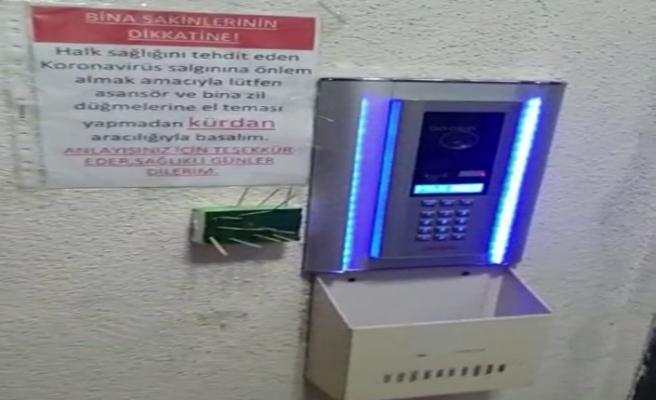 Apartman yöneticisinden korona virüse karşı 'kürdanlı' tedbir