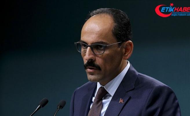Cumhurbaşkanlığı Sözcüsü Kalın'dan İsrail'in işgal ve ilhak planına tepki