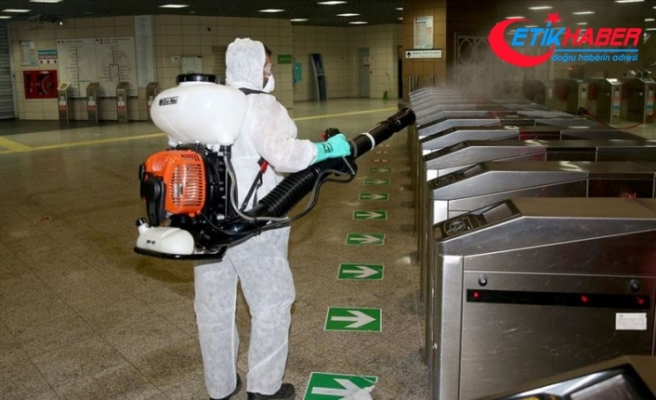 Marmaray istasyonlarında dezenfekte çalışmaları sıklaştırıldı