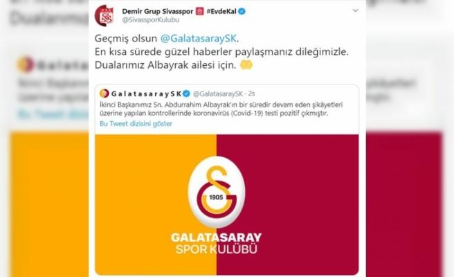 Sivasspor'dan Galatasaray'a geçmiş olsun mesajı