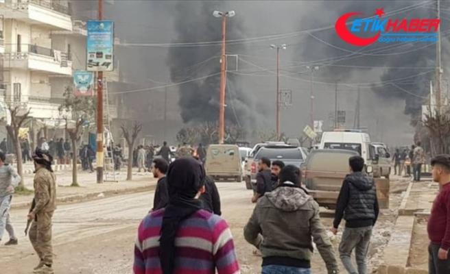 Afrin'de bomba yüklü tankerle terör saldırısı: 35 ölü