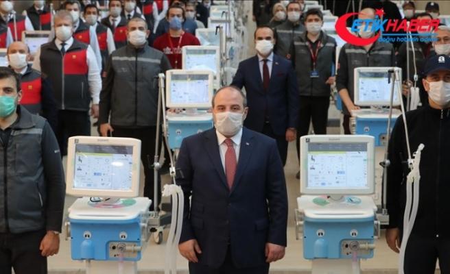 Bakan Varank yerli solunum cihazı teslimatında konuştu: İnşallah Mayıs sonuna kadar beş bin cihaz üretilmiş olacak