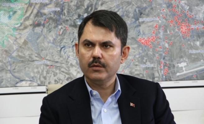 Çevre ve Şehircilik Bakanı Kurum'dan depremler ve sele ilişkin açıklama