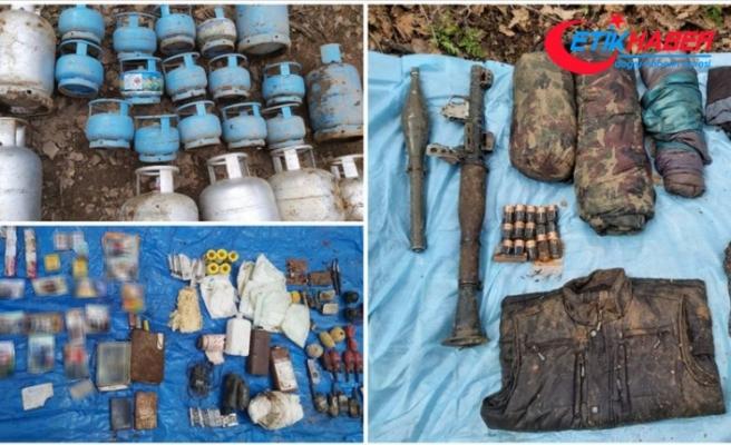 Bingöl kırsalında PKK'lı teröristlere ait malzemeler ele geçirildi