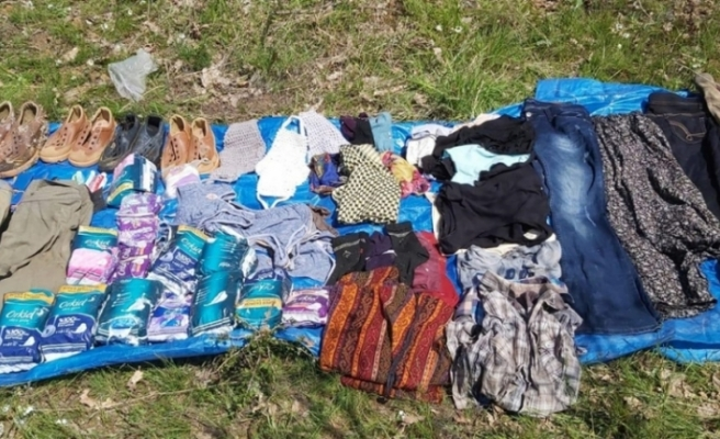 Bingöl'de PKK'lı teröristlere ait 102 kilogram esrar ile mühimmat bulundu