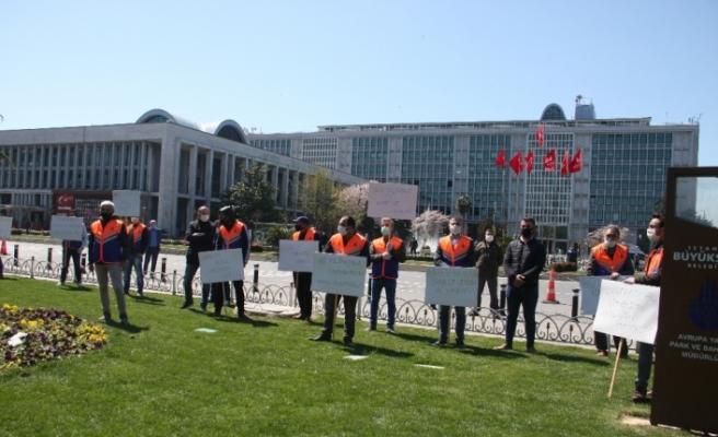 İBB'nin taşeron firmasında çalışan işçilerden Saraçhane'de eylem