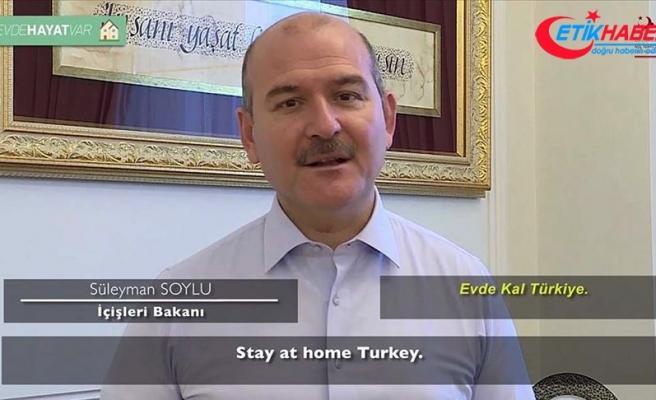 İçişleri Bakanı Soylu'dan videolu 'evde kal' çağrısı