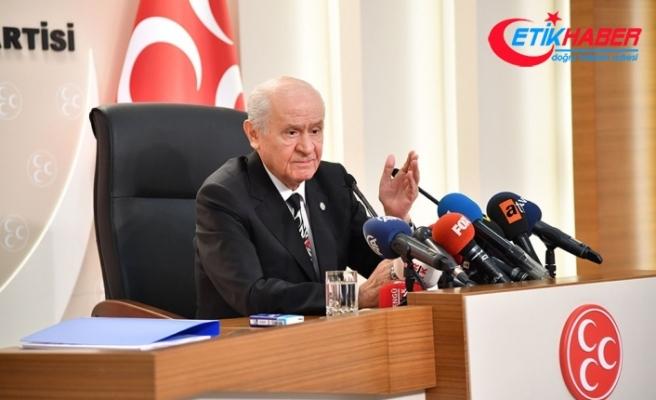 MHP Lideri Bahçeli: CHP'nin, İP'in, HDP'nin ve diğer şer ortaklarının kötü niyet ve nefreti artık gizlenemeyecek boyutlardadır