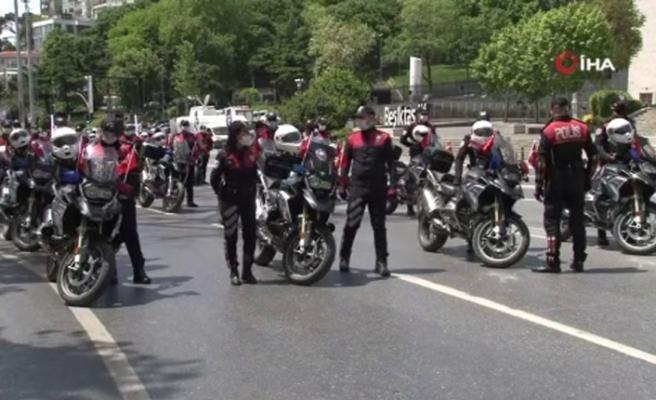 19 Mayıs'ın 101'inci yılında 101 motosikletli polis İstanbul turuna çıktı