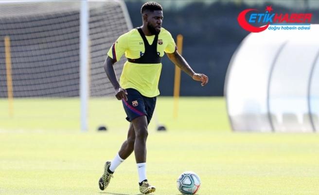 Barcelona'da Umtiti ilk antrenmanında sakatlandı