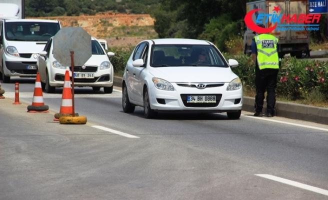 Bodrum'a giren araç sayısı 1 günde yüzde 25 arttı