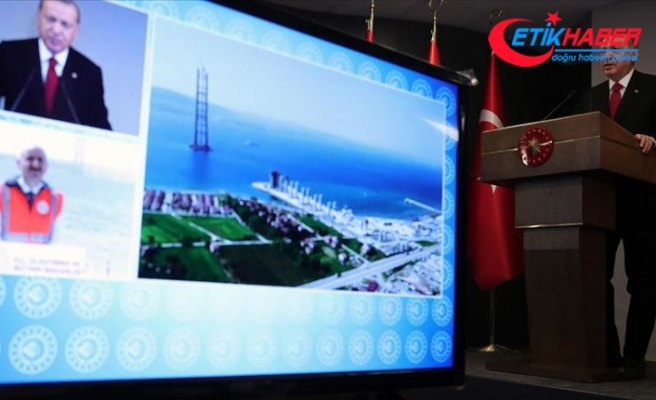 Cumhurbaşkanı Erdoğan: Çanakkale Boğazı'na köprü inşaatı asırların hayalidir