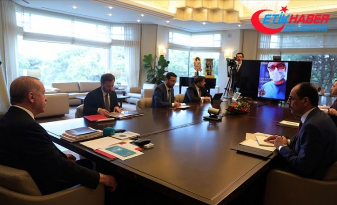 Cumhurbaşkanı Erdoğan Cerrahpaşa Tıp Fakültesi'ne video konferansla bağlanarak hastalarla görüştü