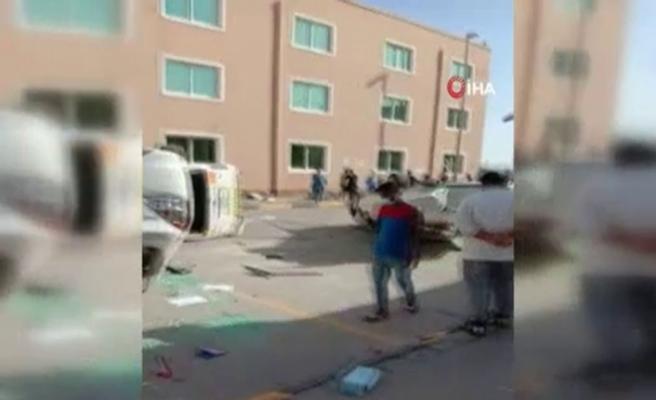 Dubai'de maaşını almayan işçilerden protesto