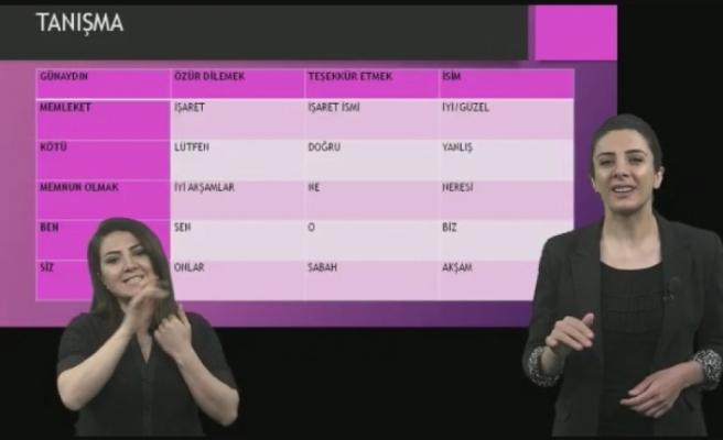 EBA'da işaret dili dersi