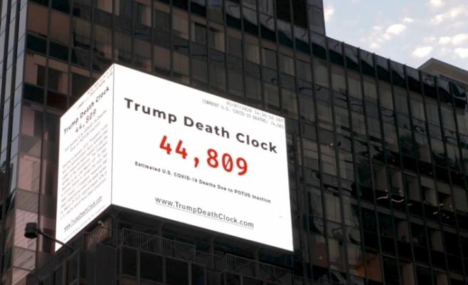 'Trump'ın ölüm saati' Times Meydanı'nda