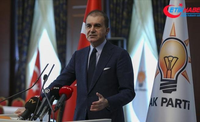 AK Parti Sözcüsü Çelik Güney Kıbrıs'ta camiye Bizans bayrağı asılmasını kınadı