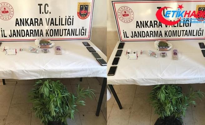 Ankara'da jandarmadan uyuşturucu tacirlerine operasyon