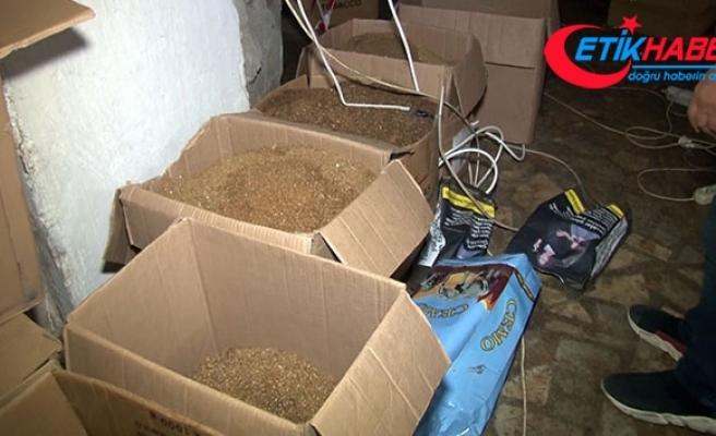Bahçelievler'de kaçak tütün imalathanesine şok baskın
