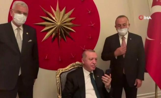 Cumhurbaşkanı Erdoğan, BM 75. Genel Kurul Başkanlığı seçim sonuçlarını izledi