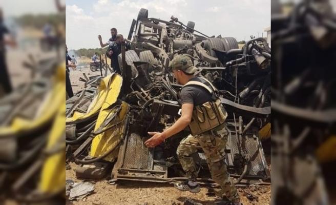 Esad rejimi askerleri taşıyan otobüsün geçişi sırasında patlama: 3 ölü, 16 yaralı