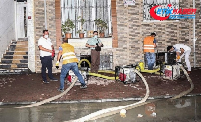 Esenyurt'ta tahliye ve temizlik çalışmaları tamamlandı