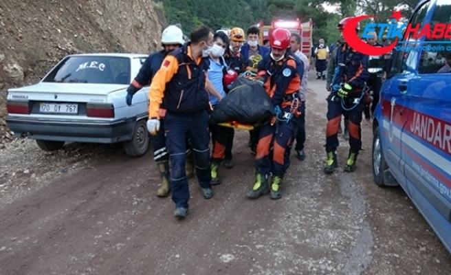 Kayıp gencin kaza yapıp uçuruma düştüğü ortaya çıktı