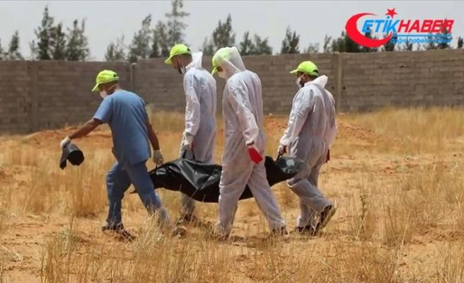 Libya'nın Terhune kentindeki bir arazide toplu mezar bulundu