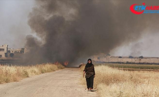 Suriye'de Esed rejimi halkın ekinlerini yakıyor