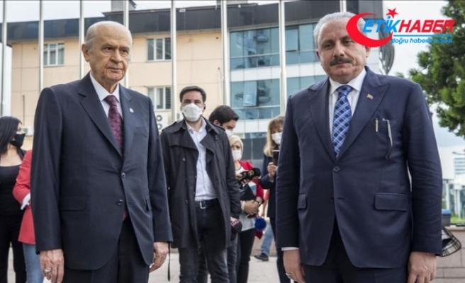 TBMM Başkanı Şentop, MHP Genel Başkanı Bahçeli'yi ziyaret etti