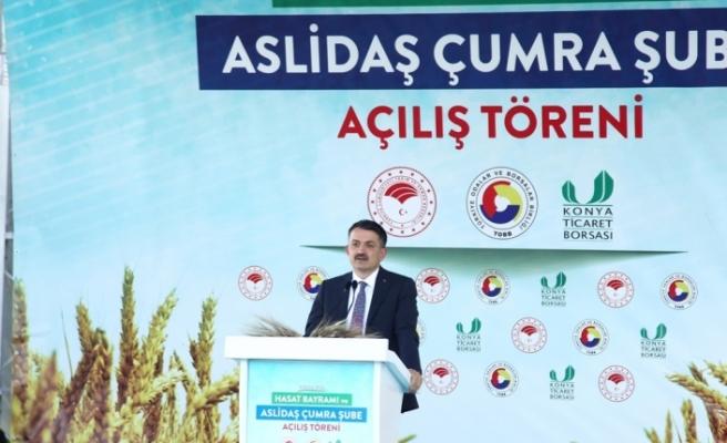 """Bekir Pakdemirli: """"Bizim mücadelemiz Bozkır ve yeşil mücadelesi"""""""