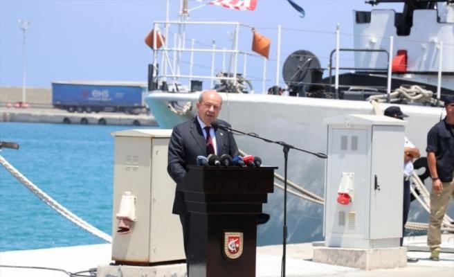 """""""Ç-128"""" müze gemisi KKTC'de ziyarete açıldı"""