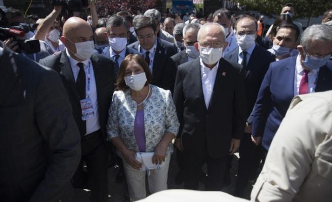 CHP Genel Başkanı Kılıçdaroğlu, kurultay salonuna geldi