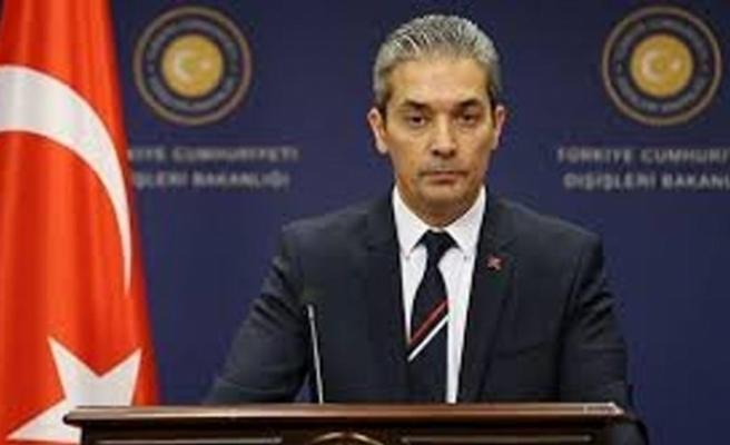 Dışişleri Bakanlığı Sözcüsü Aksoy'dan ABD'ye ada tepkisi