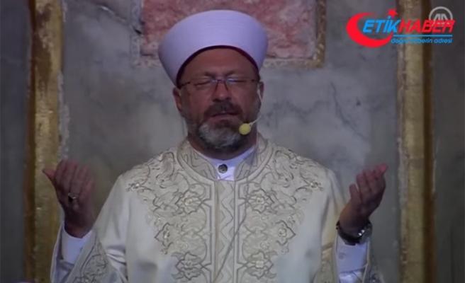 Diyanet İşleri Başkanı Ali Erbaş, Ayasofya-i Kebir Cami-i Şerifi'nde dua etti: