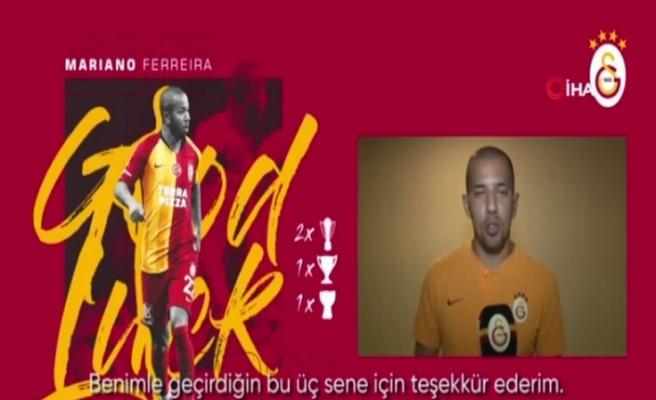 Galatasaray'dan Mariano'ya teşekkür