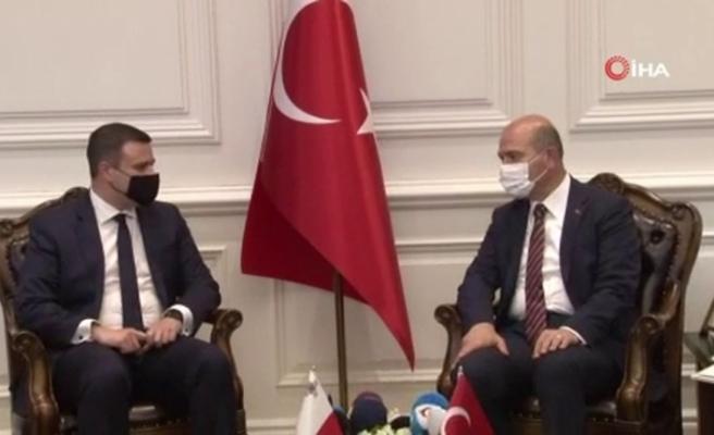 İçişleri Bakanı Soylu, Malta İçişleri Bakanı Camilleri ile bir araya geldi