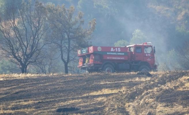 Kemel köyündeki yangın söndürüldü