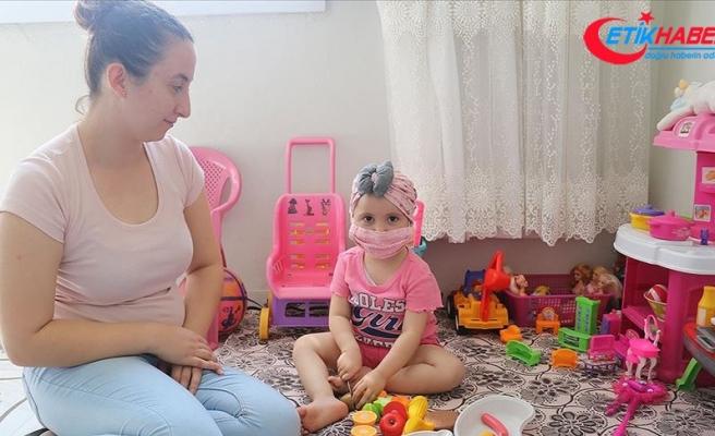 Lösemi hastası minik Derin Su'ya uygun ilik için 'seferberlik' başlatıldı