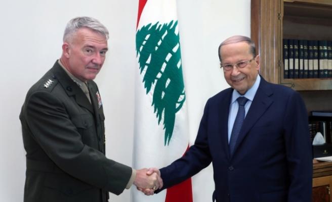 Lübnan Cumhurbaşkanı Avn, ABD Merkez Kuvvetler Komutanıyla askeri iş birliğini görüştü
