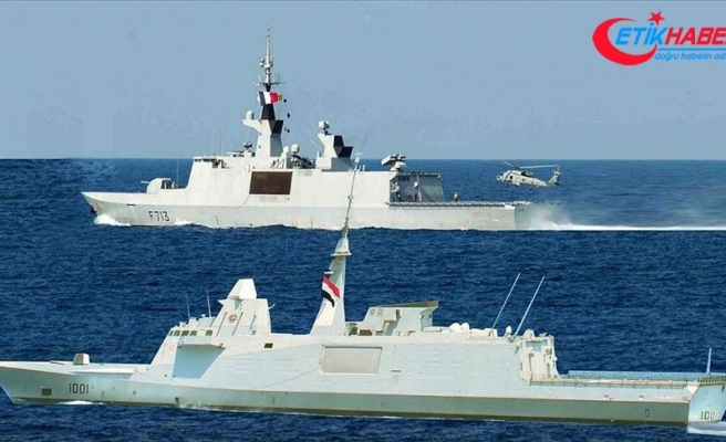 Mısır Ordusu Akdeniz'de Fransa ile yaptığı ortak tatbikatı sahte fotoğraf ile duyurdu