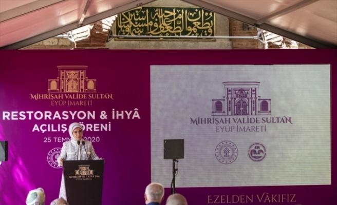 Restorasyonu tamamlanan Mihrişah Valide Sultan İmareti törenle açıldı