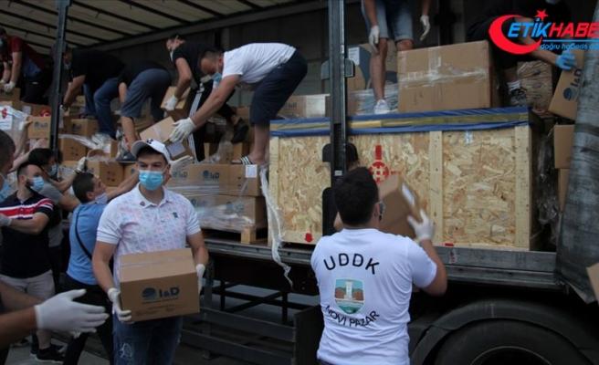 Türkiye'nin gönderdiği tıbbi malzeme yardımı Sancak bölgesine ulaştı