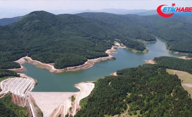 Akçay Barajı'nda su seviyesi maksimum düzeye ulaştı