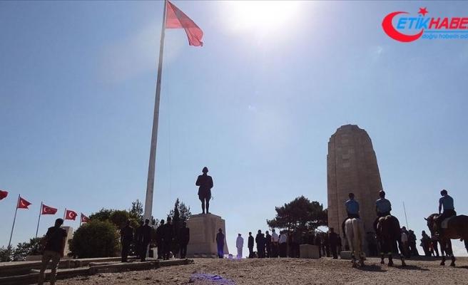 Anafartalar Zaferi'nin 105. yıl dönümünde Conkbayırı'nda tören düzenlendi