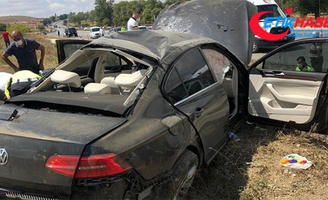 Bakan Kurum'un korumaları Çorum'da kaza yaptı: 4 yaralı
