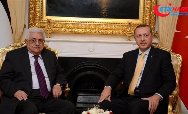Cumhurbaşkanı Erdoğan, Filistin Devlet Başkanı Mahmud Abbas ile telefonda görüştü