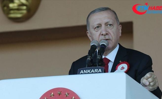 Cumhurbaşkanı Erdoğan: Karada, denizde ve havada karşımıza çıkacak herkes Türkiye'nin kararlılığını gördü