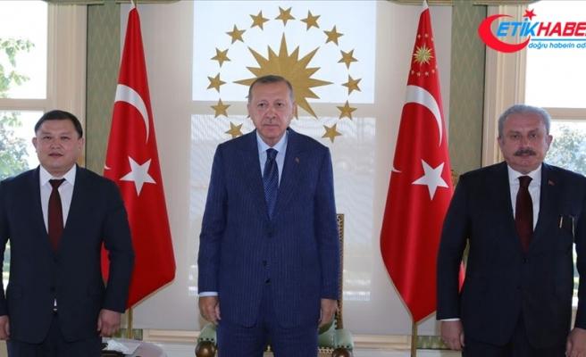 Cumhurbaşkanı Erdoğan, Kırgızistan Meclis Başkanı Cumabekov'u kabul etti