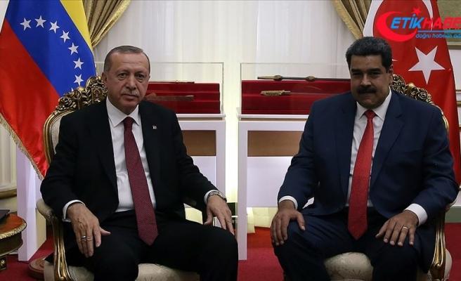 Cumhurbaşkanı Erdoğan Venezuela Devlet Başkanı Maduro ile telefonda görüştü